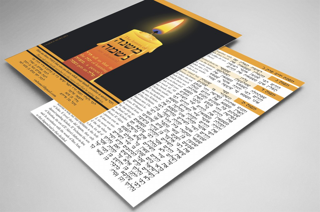 Card for Yizkor shul campaign