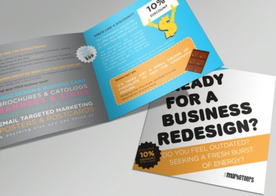 Brochure for Graphic Services- The Marketeers